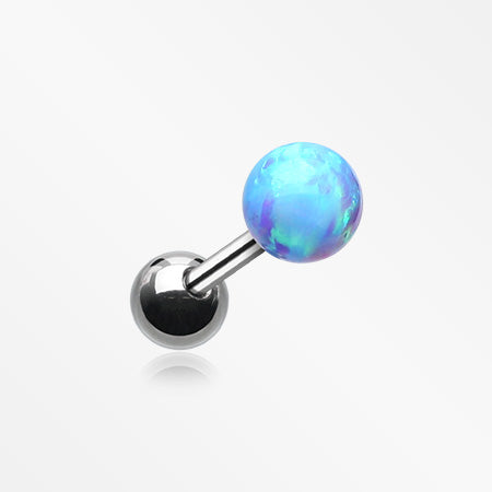 Fire Opal Ball Cartilage Tragus Barbell-Blue