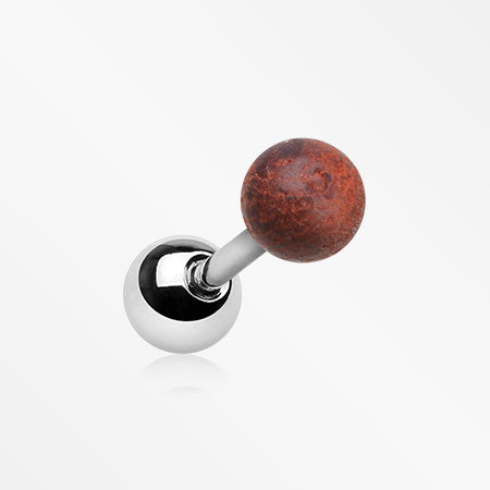 Rosewood Ball Top Cartilage Tragus Barbell