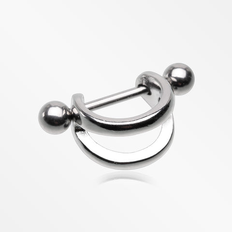 Modern Steel Stripes Cartilage Cuff Earring