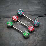 Sakura Cherry Blossom Nipple Barbell-Green
