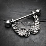 Heaven's Angel Sparkle Nipple Barbell Ring-Clear