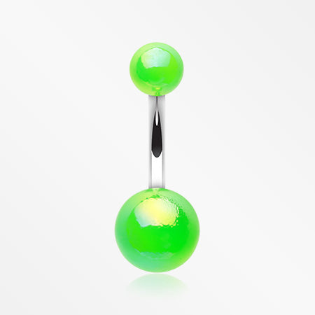 iridescent-acrylic-belly-button-ring-green
