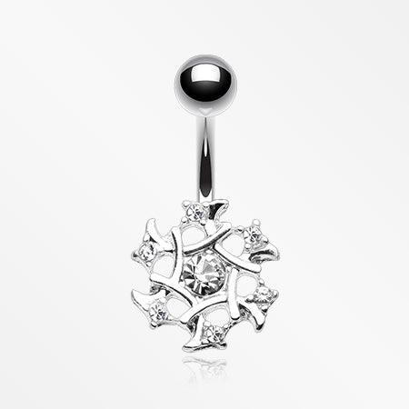 sparkle-weave-snowflake-belly-button-ring-clear