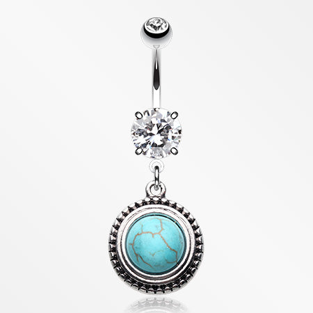 opulent-blue-moon-turquoise-belly-button-ring-clear