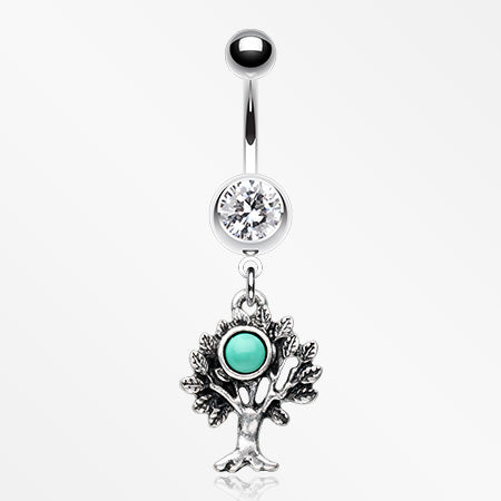tree-of-life-turquoise-belly-button-ring-clear