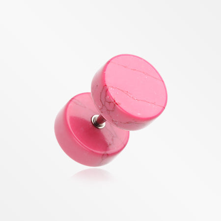A Pair of Synthetic Stone Fake Plug-Pink