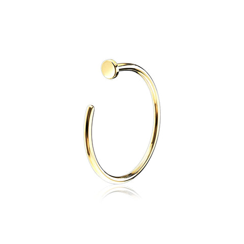 14 Karat Gold Basic Nose Hoop Ring