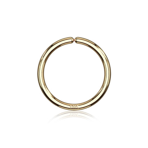 14 Karat Gold Basic Bendable Hoop Ring