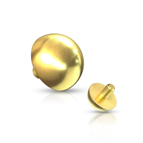 14 Karat Gold Dome Dermal Anchor Top