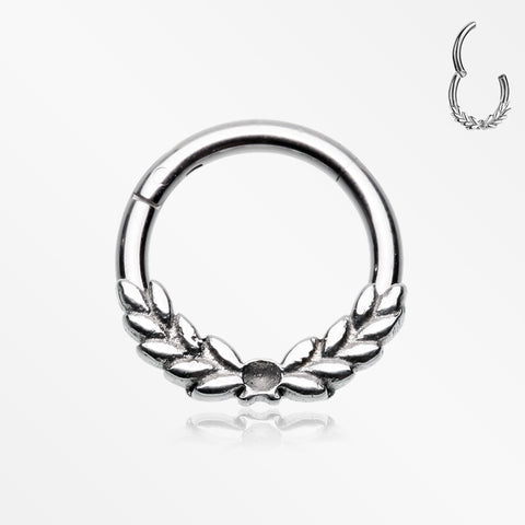 Laurel Wreath Seamless Clicker Hoop Ring