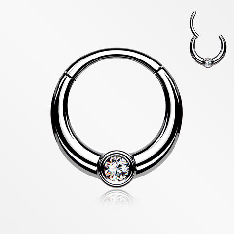 Sparkle Eclipse Seamless Clicker Hoop Ring