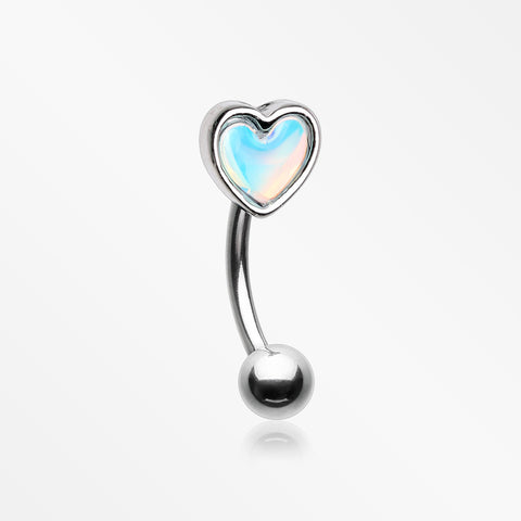 Iridescent Revo Heart Curved Barbell