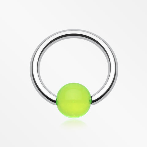 UV Acrylic Ball Top Captive Bead Ring-Green