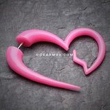 A Pair of Heartbreaker Faux Hanging Taper Earring-Pink