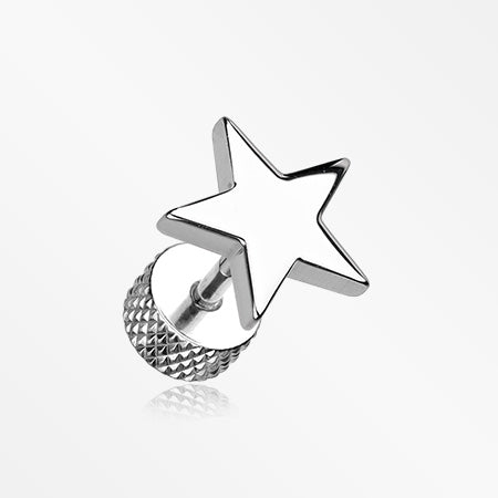 A Pair of Nova Star Steel Fake Plug Earring-Steel
