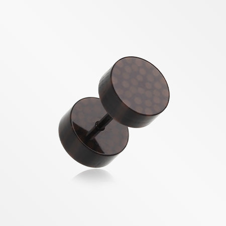 A Pair of Coco Dots Acrylic Faux Gauge Plug Earring-Black