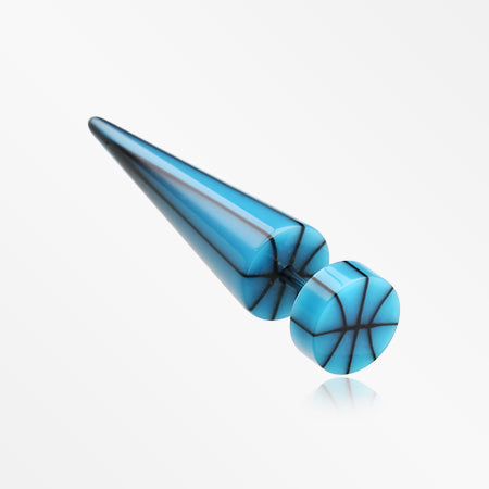 A Pair of Basketball UV Acrylic Faux Taper Earring-Blue