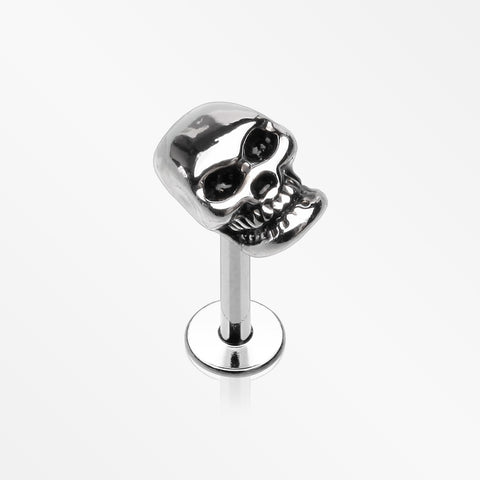 Apocalyptic Skull Steel Labret