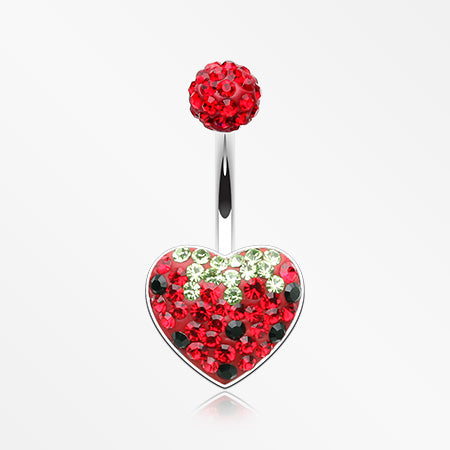 very-berry-strawberry-multi-gem-sparkle-heart-belly-button-ring-red