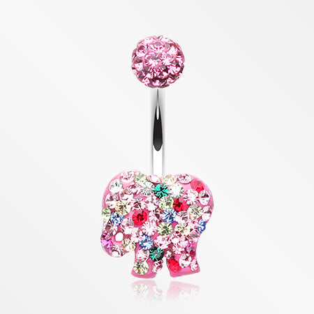 circus-elephant-cookie-multi-gem-sparkle-belly-button-ring-light-pink