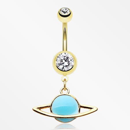 golden-glow-in-the-dark-planet-belly-button-ring-clear-blue