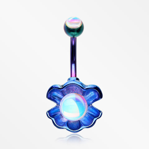 Colorline Iridescent Revo Ariel's Shell Belly Button Ring-Rainbow