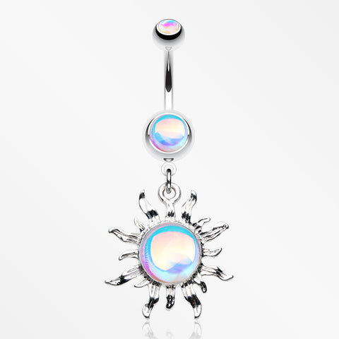 Iridescent Revo Blazing Sun Belly Button Ring