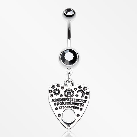 Mythical Ghost Planchette Belly Button Ring-Hematite