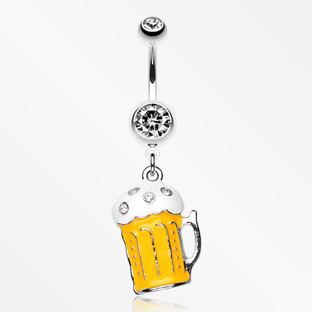 Frosty Beer Belly Ring -Clear