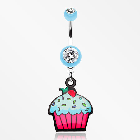 cupcake-sweets-belly-button-ring-light-blue