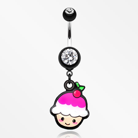 kawaii-cherry-cupcake-belly-button-ring-black