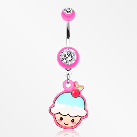 kawaii-cherry-cupcake-belly-button-ring-pink