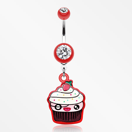 betty-cupcake-belly-button-ring-red