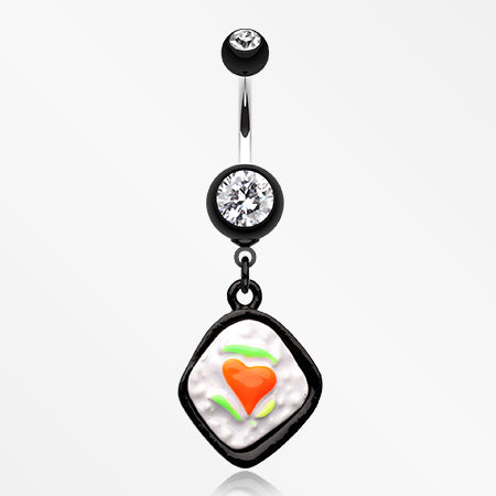 Lovely Bento Belly Button Ring-Black