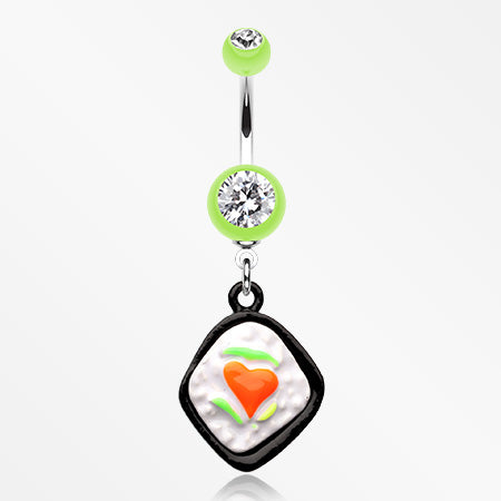 Lovely Bento Belly Button Ring-Light Green