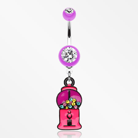 gumball-candy-machine-belly-button-ring-purple