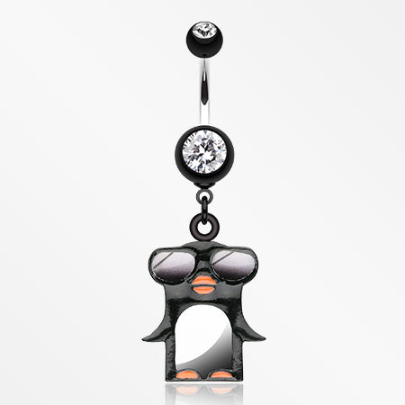 Penguin Swagg Belly Button Ring-Black