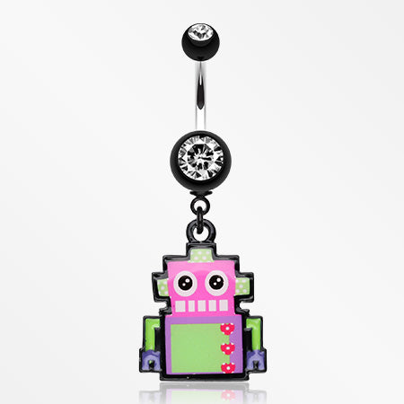 Lillibot Robot Belly Button Ring-Black