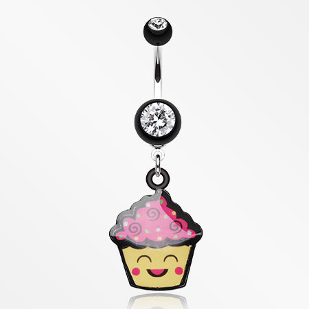 cute-cupcake-chan-belly-button-ring-black