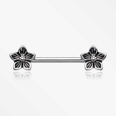 A Pair of Antique Wildflower Nipple Barbell