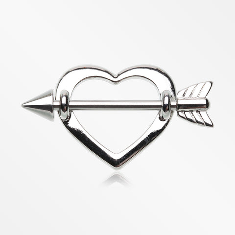 A Pair of Cupid's Heart Nipple Shield Ring