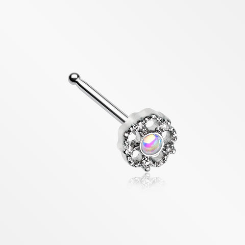 Zen Flower Iridescent Revo Sparkle Nose Stud Ring