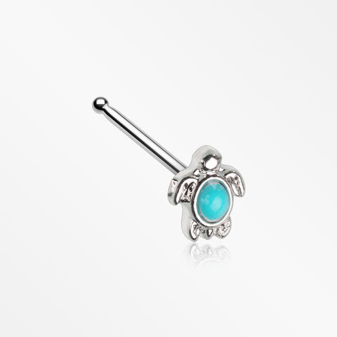 Turquoise Sea Turtle Nose Stud Ring-Turquoise