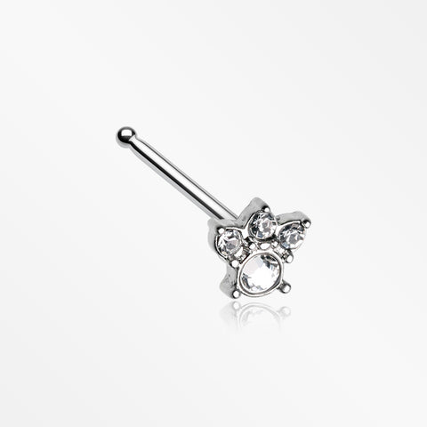Royal Majestic Sparkle Nose Stud Ring-Clear