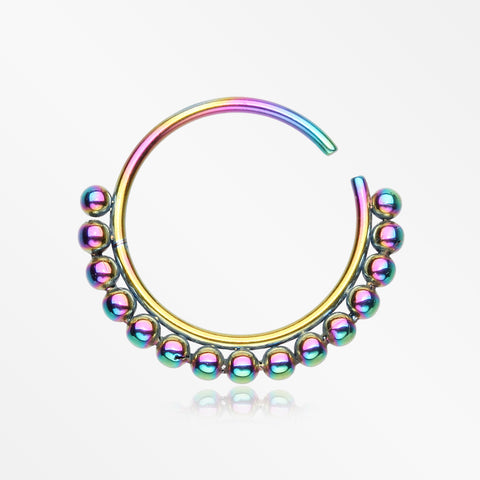 Colorline Bali Beads Spherule Bendable Nose Hoop-Rainbow