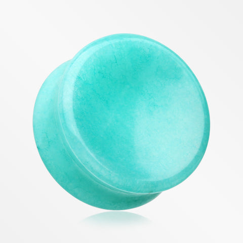 A Pair of Amazonite Concave Stone Double Flared Ear Gauge Plug
