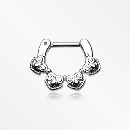 Tribal Tetra Septum Clicker-Steel