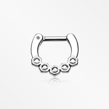 Hexa Gemina Sparkle Septum Clicker-Clear