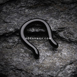 Blackline Steel Septum Ring-Black