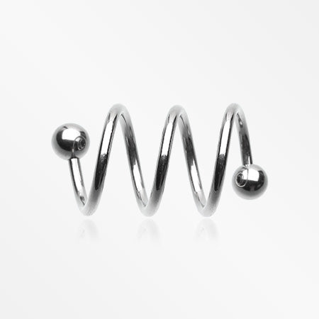 Basic Steel Triple Twist Spiral Ring-Steel